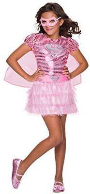 Rubie's Costume DC Superheroes Supergirl Pink Sequin Child Costume Toddler - Supergirl Costume Pink