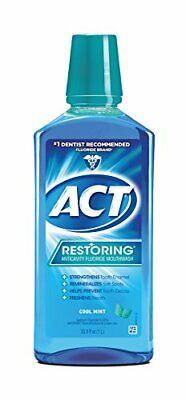 Restoring Anticavity Flouride Mouthwash 33.8oz (Pack of 3) Cool Splash Mint