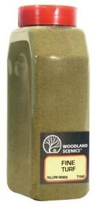 Woodland-Scenics-T1343-Turf-Fine-Yellow-Grass-32-oz-Shaker-NIB