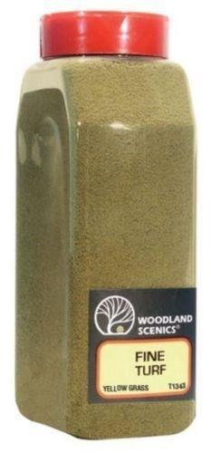 Woodland Scenics 1343 Turf Fine Yellow Grass 32 oz Shaker - NIB