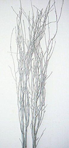 Silver Glittered Birch Branches Single Bunch