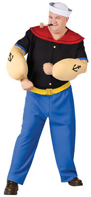 Halloween-kostüm Popeye (Popeye The Sailor Man Big and Tall Halloween Costume)