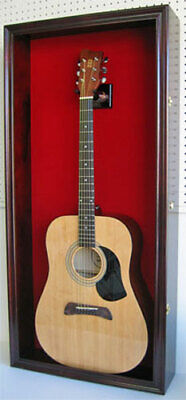 Acoustic Guitar Display Case Wall Cabinet, UV Protect Door w/ Lock