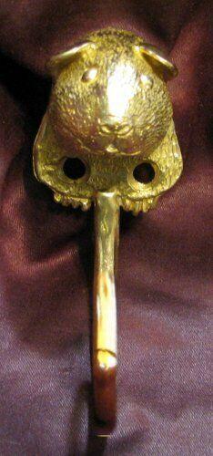 GUINEA PIG J Hook, Robe Hook, Coat Hook, Leash Hook Bronze
