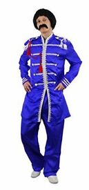 BEATLES SERGEANT PEPPERS FANCY DRESS OUTFIT SIZE M INCLUDES WIG AND GLASSES
