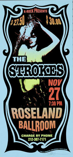 The Strokes 2002 Roseland Silkscreen Poster - Arminski