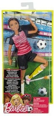 Mattel - Barbie - Made To Move Soccer Player, African American [New Toy] (American Made Toys)