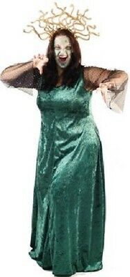 Halloween-Scary-Evil-Myth-Legend-Greek-Fancy Dress MEDUSA COSTUME Ladies Sizes