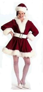 SEXY-MRS-SANTA-CLAUS-DRESS-COSTUME-XMAS-BURGUNDY-VELVET-PERKY-PIXIE-XLARGE-16-18