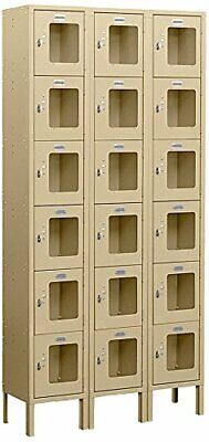Salsbury Industries S-66362tn-u Six Tier Box Style 36x12x6ft Metal Locker Br6