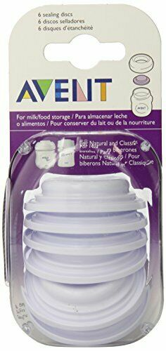 NEW Factory Sealed Philips Avent 6-Count Bottle Sealing Discs - FREE Shipping!
