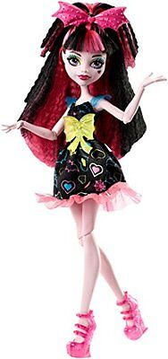 Monster High Electrified Hair-Raising Ghouls Draculaura Bat Outfit Clothes Doll