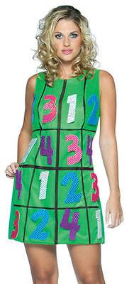 Sudoku Interactive Game Dress Adult Halloween Costume Funny Fancy Dress New