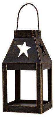 "Primitive STAR MINI LANTERN Tea Light Holder - 5"" Metal Ornament"