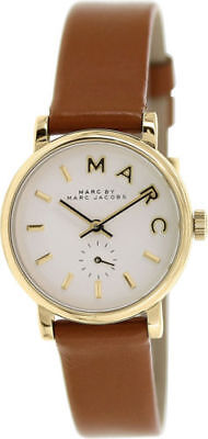 NEW Marc By Marc Jacobs Baker Brown Leather Band Ladies Watch MBM1317