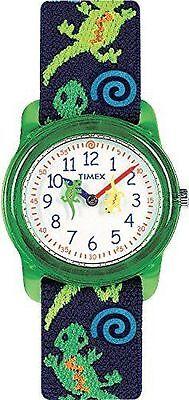 Timex T72881, Kid's Lizard Print Fabric Analog Watch,  T728819J