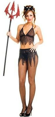 NWT sexy MUSIC LEGS wicked NEW devil SATAN lucifer DEMON halloween PARTY costume