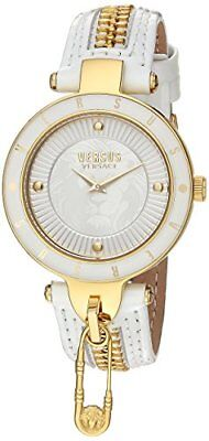 Versus by Versace Women's SCK060016 'KEY BISCAYNE II' Quartz Leather White Watch