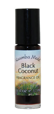 Kuumba Made Roll On Scented Perfume Oil 1/8 oz: BLACK COCONUT (Body Oils)