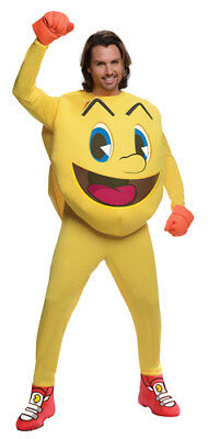 Mens Deluxe Pac-Man Video Games Halloween Costume (Adult Pac Man Costume)