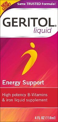 Geritol Solvent Energy Support B-Vitamins & Iron Supplement 4 Oz