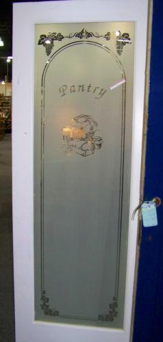 Antique Etched Glass Door Ebay