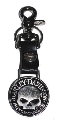 harley davidson leather key chain ebay. Black Bedroom Furniture Sets. Home Design Ideas