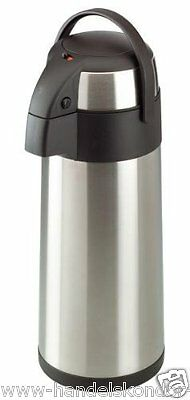 Pumpkanne Isolierkanne Inhalt: 5 Liter Kaffeekanne Edelstahlkanne Thermoskanne