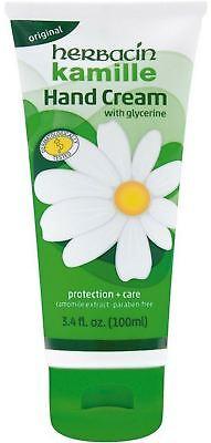 Herbacin Kamille with Glycerine Hand Cream 3.4 oz (Pack of 2)