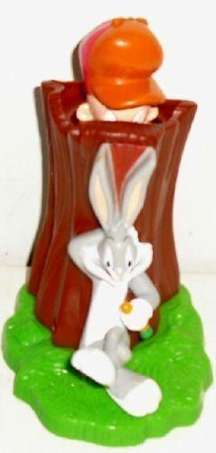 "Looney Tunes BUGS BUNNY & ELMER FUDD toy 4"", Burger King UK"