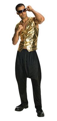 Gold Mens Halloween MC Hammer Vest