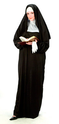 Nun Habit Plus Size Womens Catholic Halloween Costume - Halloween Costume Nun