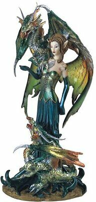 Fairy Collection Pixie with Dragon Fantasy Figurine Figure Decoration, New, Free