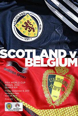 * 2013 - SCOTLAND v BELGIUM (6th SEPTEMBER 2013) *