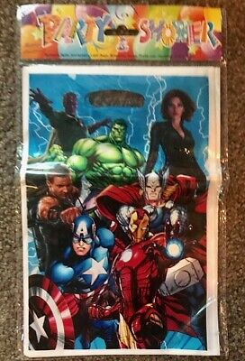 NEW Pack of 10 Boys MARVEL Avengers Themed Party Loot Bag Lolly Bags Iron - Avengers Themed Party