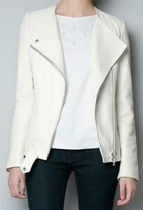 White Leather Jacket | eBay