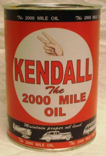 Kendall Oil Can Ebay