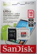 16GB SanDisk Micro SD Memory Card