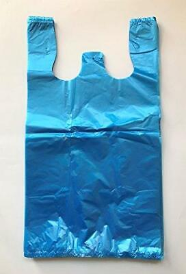 Rg Large Plastic Grocery T-shirts Carry-out Bag Blue Unprinted 12 X 6 X 21 100