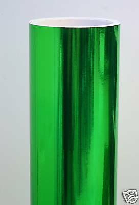 25 X 36 Green Chrome Mirror Vinyl Continuous Roll