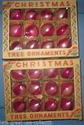 Vintage Glass Striped Christmas Ornaments