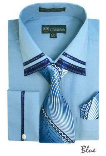 Mens Dress Shirt French Cuff 16 Ebay