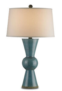 Upbeat 1 Light Table Lamp with Teal Terracotta Base