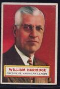 1956 Topps William Harridge