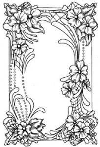 CREATIVE EXPRESSIONS Cut Mounted STAMPS TO DIE FOR Sue Wilson FLORAL CARTOUCHE