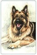 German Shepherd Glass