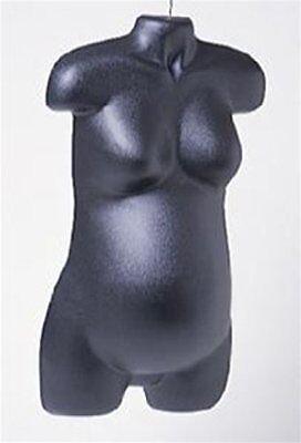 Pregnant Female Dress Mannequin Form Plastic Black With Hook For Hanging