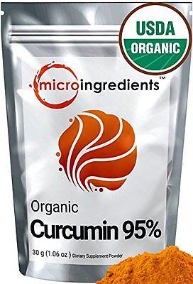 Micro Ingredients Organic Curcumin 95  Natural Turmeric Extract Powder 1 06 Oz