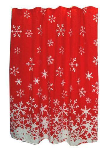 Snowflake Shower Curtain Ebay