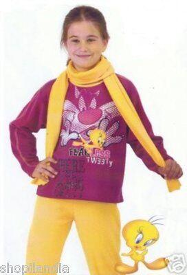 Pyjama Mädchen Tweety Größe 10 - Schlafanzug Fille - 10 (Mädchen Schlafanzug Größe 10)